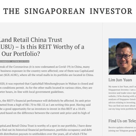 CapitaLand Retail China Trust (SGX:AU8U) - Is this REIT Worthy of a Spot in Our Portfolio?