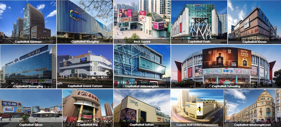 14 Shopping Malls under CapitaLand Retail China Trust's Portfolio as at 31 December 2019 (Image Source: CapitaLand Retail China Trust's 4Q & FY2019 Results Presentation)