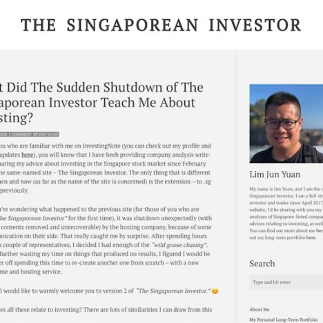 What Did The Sudden Shutdown of The Singaporean Investor Teach Me About Investing?