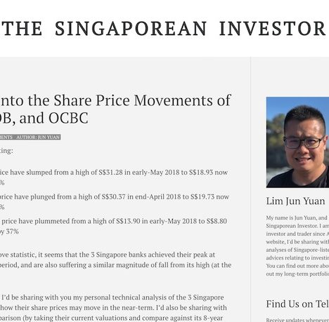 A Look into the Share Price Movements of DBS, UOB, and OCBC