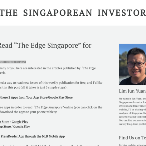 "How to Read ""The Edge Singapore"" for Free"