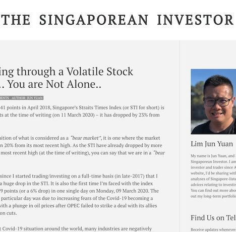 Navigating through a Volatile Stock Market… You are Not Alone...