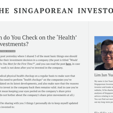 How Often do You Check on the 'Health' of Your Investments?