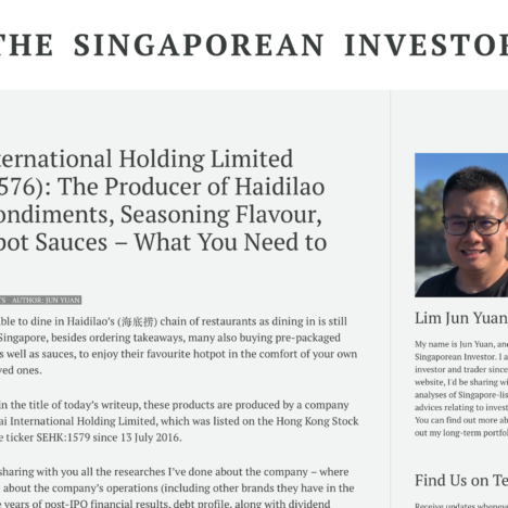 Yihai International Holding Limited (SEHK:1576): The Producer of Haidilao Series Condiments, Seasoning Flavour, and Hotpot Sauces – What You Need to Know