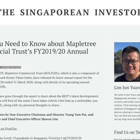 What You Need to Know about Mapletree Commercial Trust's FY2019/20 Annual Report