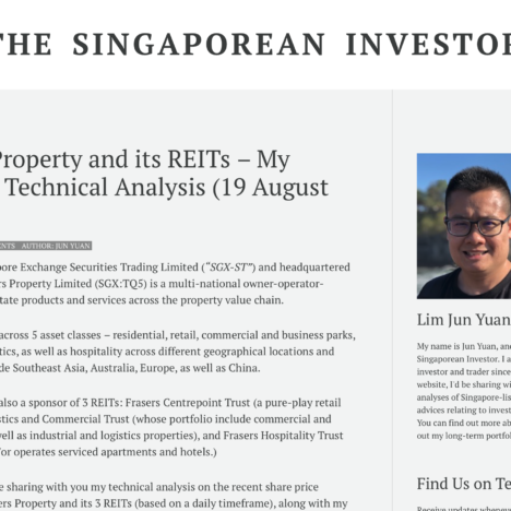 Frasers Property and its REITs – My Personal Technical Analysis (19 August 2020)