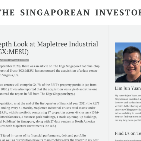 An In-Depth Look at Mapletree Industrial Trust (SGX:ME8U)