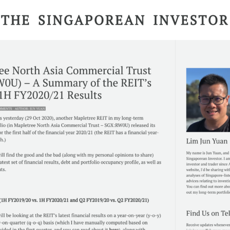 Mapletree North Asia Commercial Trust (SGX:RW0U) – A Summary of the REIT's Q2 and 1H FY2020/21 Results