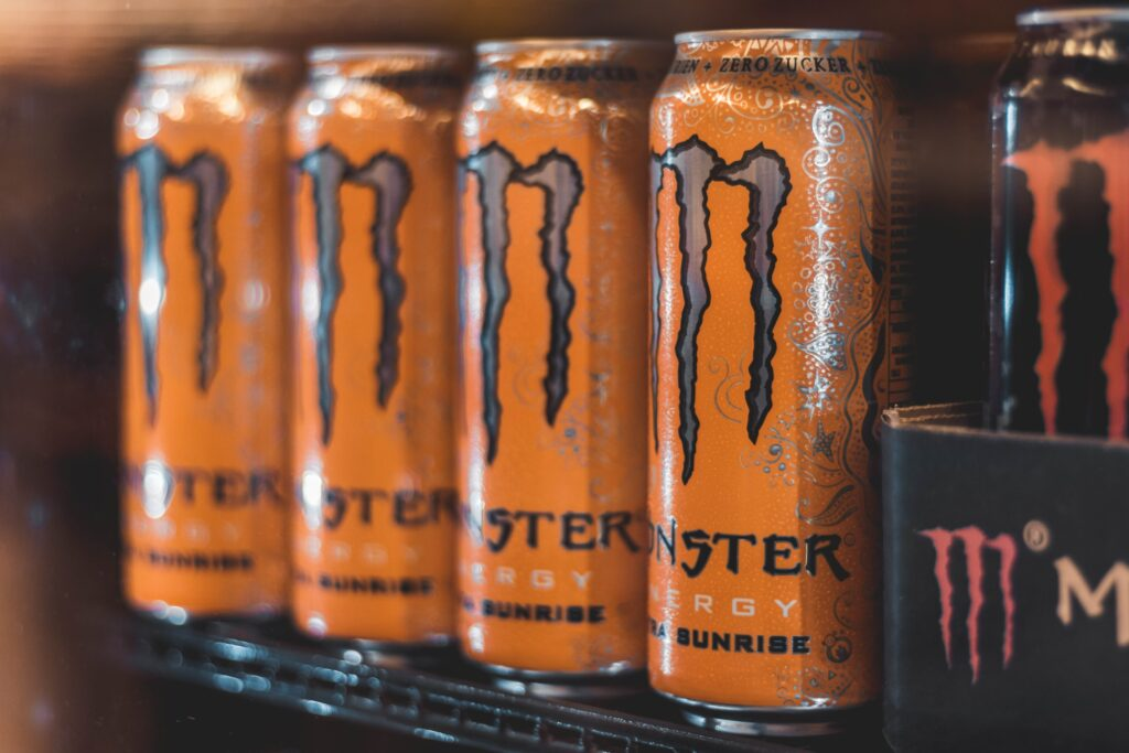 Monster Beverage Corporation's 'Monster Energy' Drinks. Photo by Christian Wiediger on Unsplash