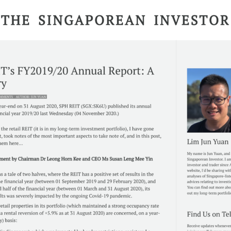 SPH REIT's FY2019/20 Annual Report: A Summary