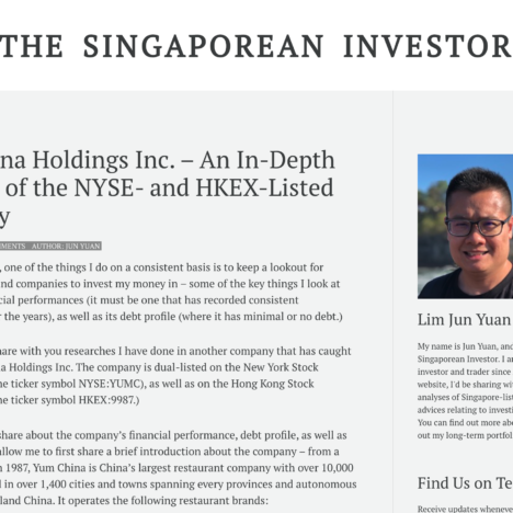 Yum China Holdings Inc. – An In-Depth Analysis of the NYSE- and HKEX-Listed Company