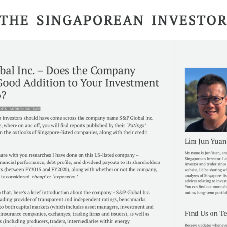 S&P Global Inc. – Does the Company Make a Good Addition to Your Investment Portfolio?