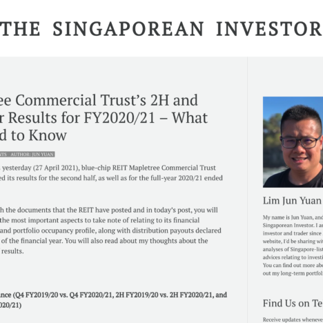 Mapletree Commercial Trust's 2H and Full-Year Results for FY2020/21 – What You Need to Know