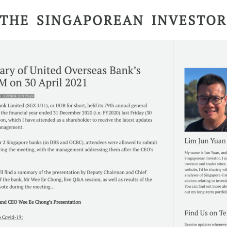 A Summary of United Overseas Bank's 79th AGM on 30 April 2021