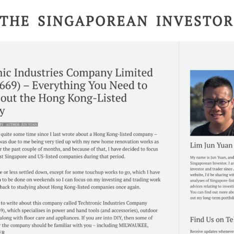 Techtronic Industries Company Limited (SEHK:0669) – Everything You Need to Know about the Hong Kong-Listed Company